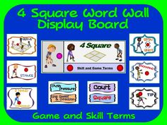 Flag football word wall display skill graphics game terms 4 square word wall display skill graphics game terms publicscrutiny Image collections