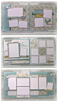 Scrapbooking Kits: Scrapbook Layout Cutting Guides #CTMHGeorgie