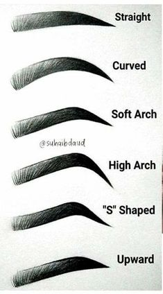 Eyebrows Sketch, How To Draw Eyebrows, Drawing Eyebrows, Pluck Eyebrows, Korean Eyebrows, Shape Eyebrows, Microblading Eyebrows, Tattoo Eyebrows, Types Of Eyebrows