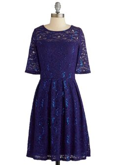 Indigo All Out Dress. For your next festive fete, highlight your natural charisma by donning this dazzling cocktail dress! #blue #modcloth