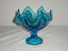 Retro Blue Candy Dish