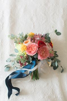 fun and colorful wedding bouquets