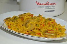 Fideuá de verduras. Consulta la receta aquí: http://www.clubcocinamoulinex.es/recetas/detalle/2281