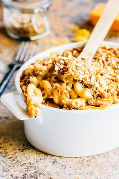 Pumpkin Ale Mac and Cheese with Pretzel Breadcrumbs — The Whole Bite