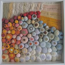 The Wave. Crochet Art by Caroline Routh