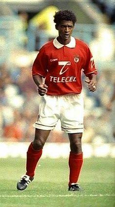 Valdo of Benfica & Brazil in 1995.