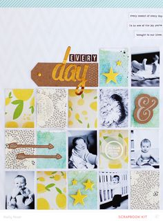 #papercraft #scrapbook #layout   Everyday by Kelly Noel at @Studio_Calico
