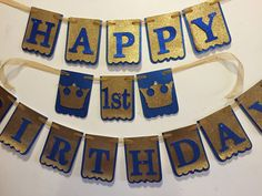 Prince Banner Prince Party Theme, Prince Birthday Theme, First Birthday Outfits Boy, Mickey Mouse 1st Birthday, 1st Birthday Themes, Baby Boy 1st Birthday, Happy Birthday Banners, First Birthday Parties, Birthday Ideas