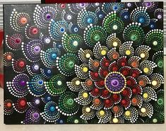 This Rainbow mandala art is just one of the custom, handmade pieces you'll find in our acrylic shops. Mandala Art, Mandala Painting, Mandala Pattern, Chakra Healing, Chakra Art, Mandala Painted Rocks, Mandala Rocks, Dot Art Painting, Painting Patterns