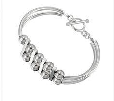 Sterling Silver Bangle Bracelet by jewelryhunters on Etsy #handmade #bracelet #silver #jewelry #balls