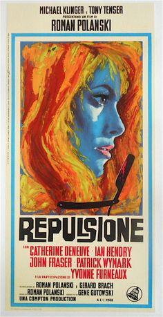 REPULSION (1965) Original Italian Poster Catherine Deneuve Roman Polanski 1965