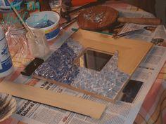 Mi tia María: La Mari tuneadora: Hacer mosaico en malma, reciclando vasos de cristal DIY