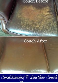 Conditioning a genuine leather couch using a common household item. Make sure to test in a hidden area first.