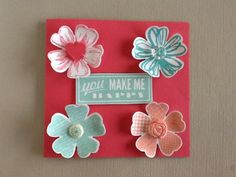 Stamping Joy - You make me happy!   Flower shop and Pansy Punch.