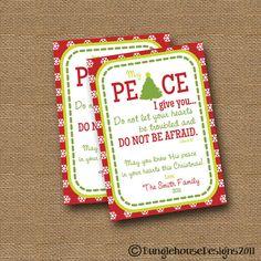 Christmas Card  DIY PRINTABLE Peace by bunglehousedesigns on Etsy, $12.00