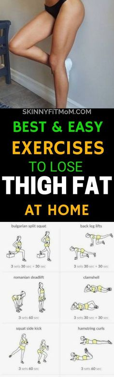 10 Best Exercises To Lose Thigh Fat Fast At Home that works