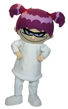 Do you have an interest in the mad side of science? Then you should meet the most adorable mad scientist Franny K. Stein from the Franny K. Stein series by Jim Benton. The Franny K Stein costume for promotional use at schools, libraries, and bookstores. Fancy Costumes, Carnival Costumes, Halloween Costumes, Literary Characters, Book Characters, Character Costumes, Mascot Costumes, Children And Family, Halloween 2019