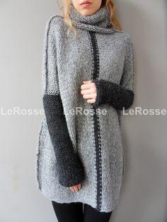 Oversized/Slouchy/Loose knit sweater. Aplaca sweater. от LeRosse