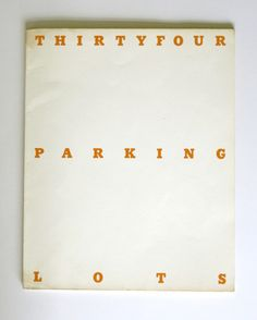 ed ruscha, thirtyfour parking lots in los angeles (1967)