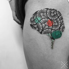 Blackwork Tattoos Elevated by Colorful Crossovers and Ornate Geometry by Jaya Suartika