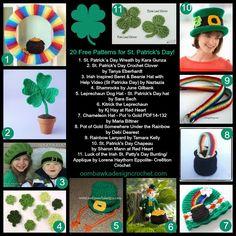 20 Free Patterns St Patricks Day @OombawkaDesign