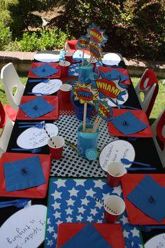 Superhero tables