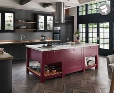 Gain more living space with a kitchen extension. To get started, explore our guide, full of kitchen extension ideas, advice and kitchen-diner photos. Red Kitchen Island, Grey Kitchen Cabinets, Kitchen Cabinet Colors, Kitchen Units, Kitchen Colors, Kitchen Storage, Kitchen Islands, Kitchen Utensils, Grand Kitchen