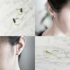 Black and gold earrings (can be worn without the black beads, too)