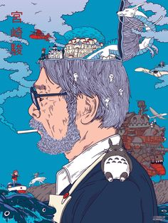 SosuChan — Hayao Miyazaki Art from Début Art Hayao Miyazaki, Studio Ghibli Films, Art Studio Ghibli, Studio Art, Studio Ghibli Quotes, Arte 8 Bits, Japon Illustration, Howls Moving Castle, Animes Wallpapers