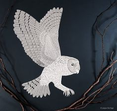 While the World is Sleeping. Paper Cut by Pippa Dyrlaga