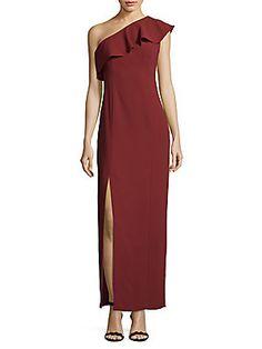 CALVIN KLEIN ONE-SHOULDER DRESS. #calvinklein #cloth #