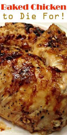 Baked Chicken to Die For! Baked Chicken to Die For! Baked Chicken with Garlic and Brown Sugar Ingredients: 4 Tbs brown sugar 3 tsp olive oil. White Chicken Gravy Recipe, Oven Baked Chicken, Garlic Chicken, Roasted Chicken Thighs, Chicken Breasts, Grilled Chicken, Baked Chicken Breastrecipes, Split Chicken Breast, Chicken Piccata