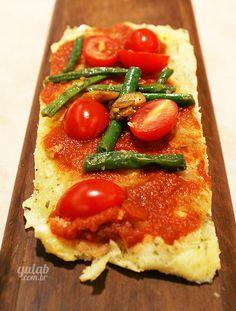 Pizza de tapioca feita na frigideira - Gulab