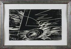 Silvano Bozzolini - Tecnica mista su carta, 1967, 48 x 29 cm.