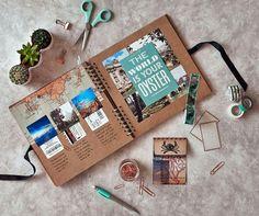 Scrapbooking creativo comment faire un album, diy voyage, simple scrapbook ideas Album Journal, Scrapbook Journal, Photo Journal, Memory Journal, Journal Art, Scrapbooking Layouts, Photo Album Scrapbooking, Scrapbook Photos, Scrapbook Cover