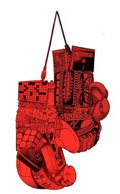 Nerd Gloves by SharkeyeJones on Etsy, $30.00 #graphics