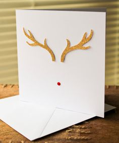 Rudolf Christmas Card by LemonfrogCrafts on Etsy, £3.00