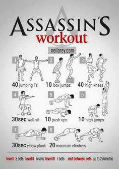 Assasin's Workout | Posted by: AdvancedWeightLossTips.com