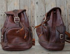 Vintage 80's Brown Leather Bohemian Mini by RoslynVTGTradingCo, $78.00