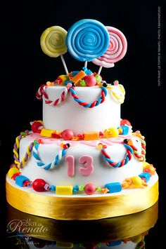 Fun & #Cute #Candy #Cake! :) We love and had to share! Great #CakeDecorating!