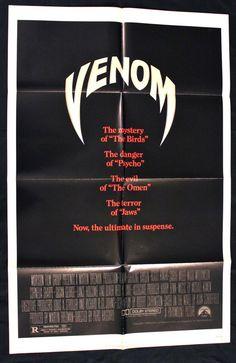 VENOM (1981) Movie Poster 27x41 Oliver Reed #BMovie #Horror #SciFi #MoviePoster   http://stores.ebay.com/AwesomeBMovies