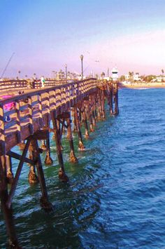 View from the end of the Seal Beach, California Pier.