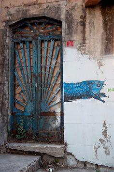 Fish and Door, Istanbul, Turkey