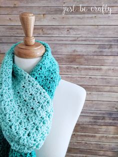 The Green Meadows Crochet Scarf Pattern features Red Heart Super Saver Ombre Yarn. The subtle monochromatic color change gives the piece a beautiful and unique look! Crochet Shell Scarf, Crochet Scarves, Crochet Shawl, Crochet Yarn, Free Crochet, Crocheted Scarf, Beginner Crochet, Chrochet, Crochet Crafts