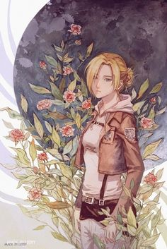 Female Titan, Annie Leonhart, Face Swaps, Attack On Titan, Flower Art, In This World, Anime Art, Manga, Fictional Characters