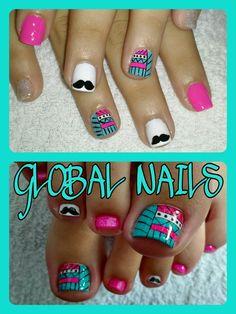 Pedicure Designs, Toe Nail Designs, Manicure Y Pedicure, Pretty Hands, Black Nails, Toe Nails, Diana, Nailart, Makeup