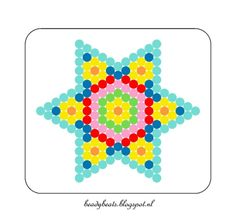 Beady Beads - Star 1b. Perler / Hama / Fusion / Melty / Pyssla Beads. Free Pattern Card! Visit my blog for more free patterns. by JohnsonKathy