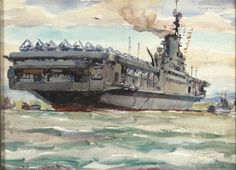 American Aircraft Carriers, Flight Deck, Ship Art, Battleship, Boats, Ships, Military, Sea, Navy