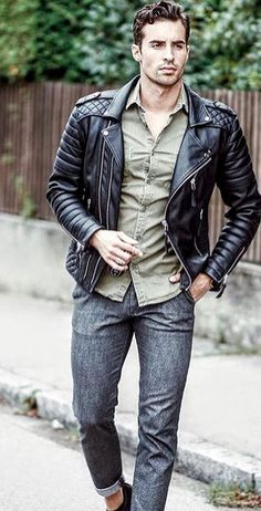 In Fashion Mens Coats Leather Jackets For Sale, Men's Coats And Jackets, Leather Blazer, Leather Men, Leather Outfits, Streetwear, Cheap Mens Fashion, Smart Men, Komplette Outfits