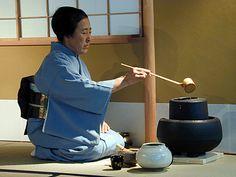 Michiko Nojiri Sensei. I practised tea ceremony with Nojiri Sensei in Rome.